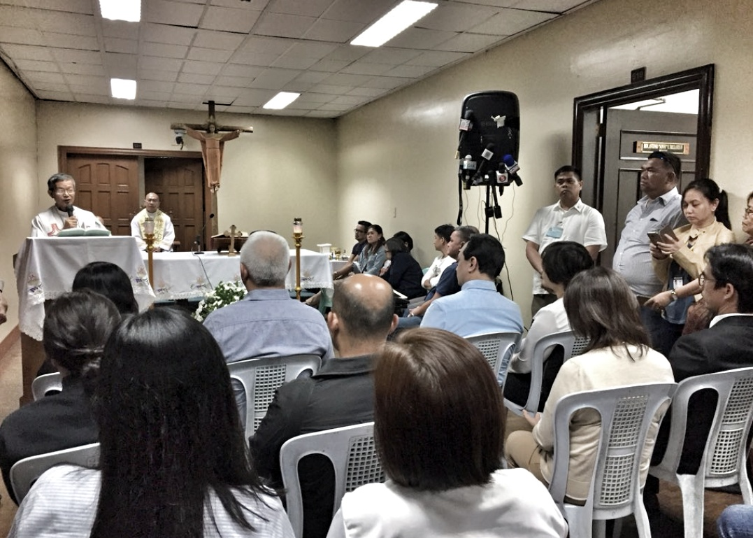 Trillanes violates Catholic Canon Law by having a mass celebrated at a venue convenient to him!
