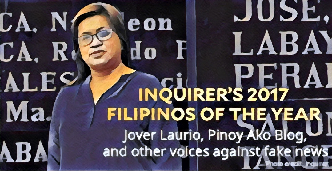 """2017 """"Person of the Year"""" awarded to @PinoyAkoBlog by @Inquirerdotnet in hindsight following #PABoost-gate"""