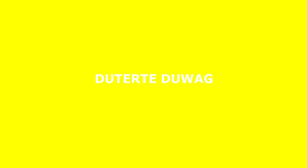 """The latest """"woke"""" activist fashion statement is to repeatedly tweet """"DUTERTE DUWAG"""""""