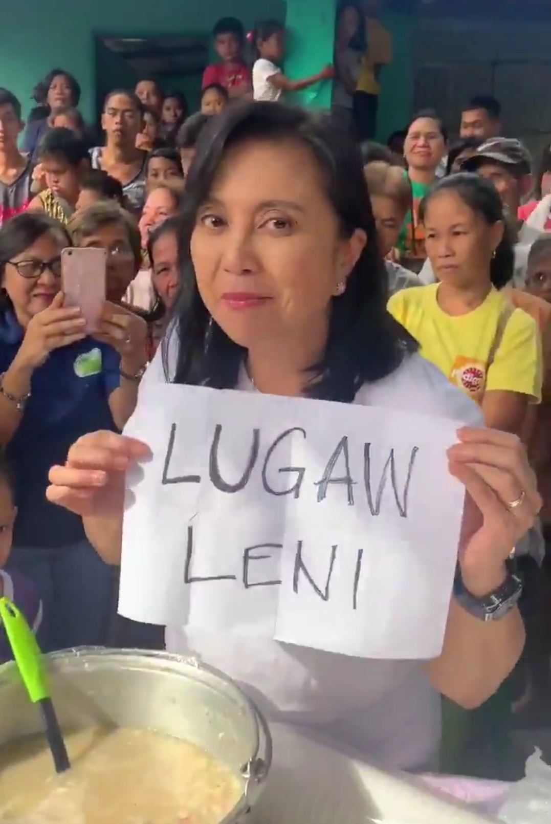 Leni Robredo routinely exploits disasters to campaign for the next national elections.